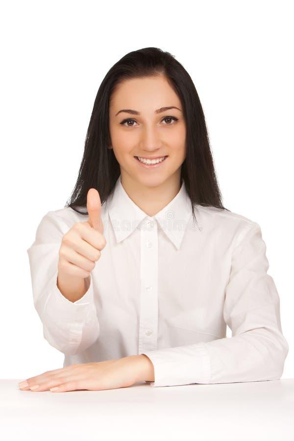 打手势的少妇好 免版税库存图片