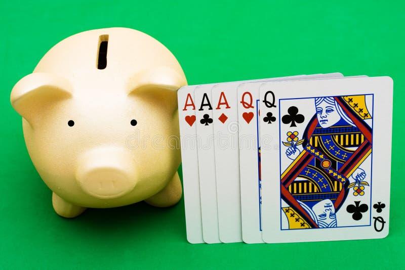 打扑克 库存照片
