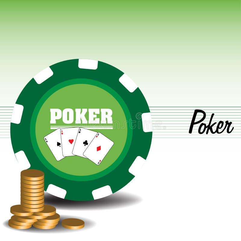 打扑克 向量例证