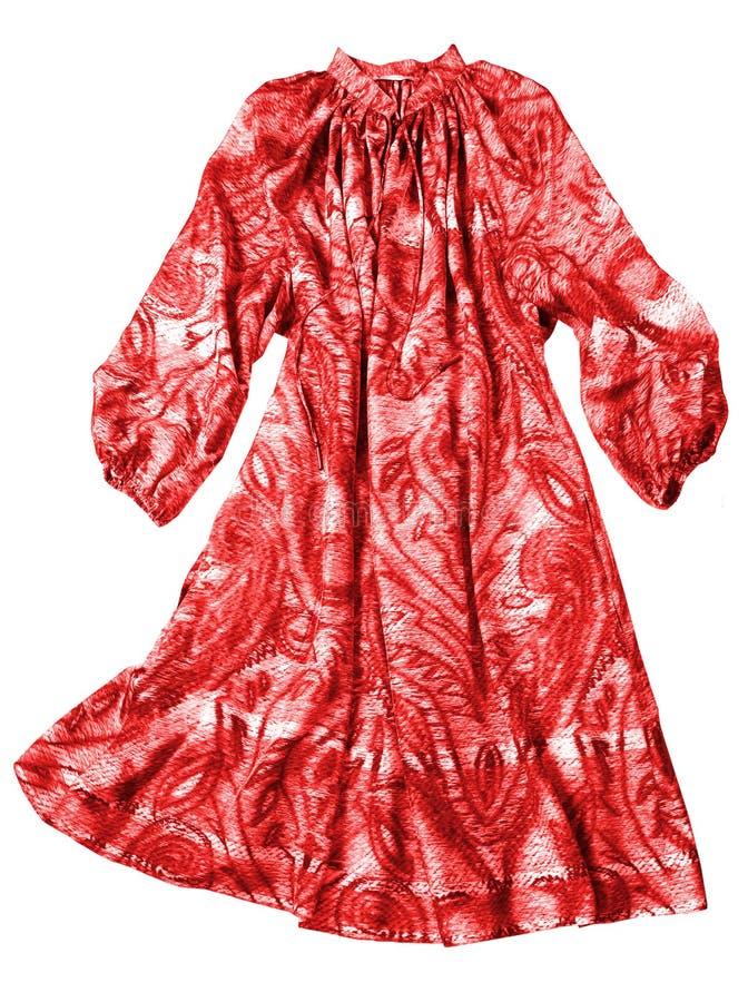打扮红色妇女 库存照片