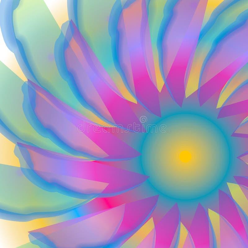 打旋的蓝色swirly纹理 向量例证