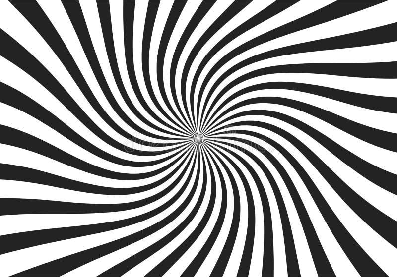 打旋的辐形样式担任主角背景 漩涡starburst螺旋转动正方形 螺旋自转光芒 乐趣太阳光束 向量例证