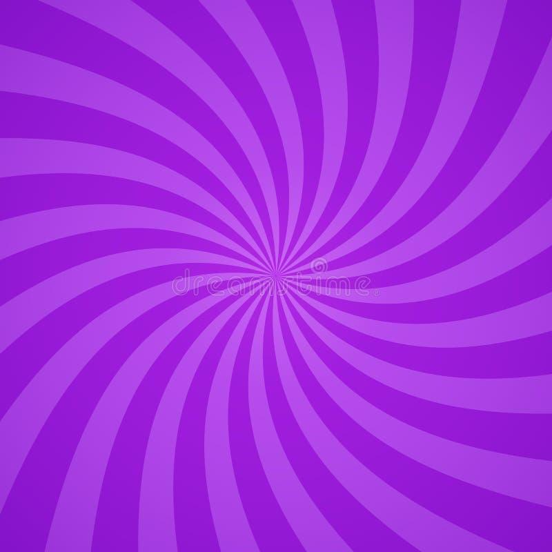 打旋的辐形紫色样式背景 也corel凹道例证向量 库存例证