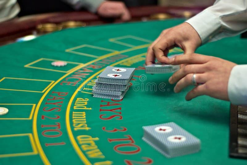打牌用之轻便小桌 免版税图库摄影