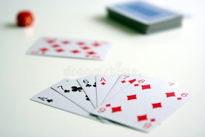 打牌用之轻便小桌 库存图片