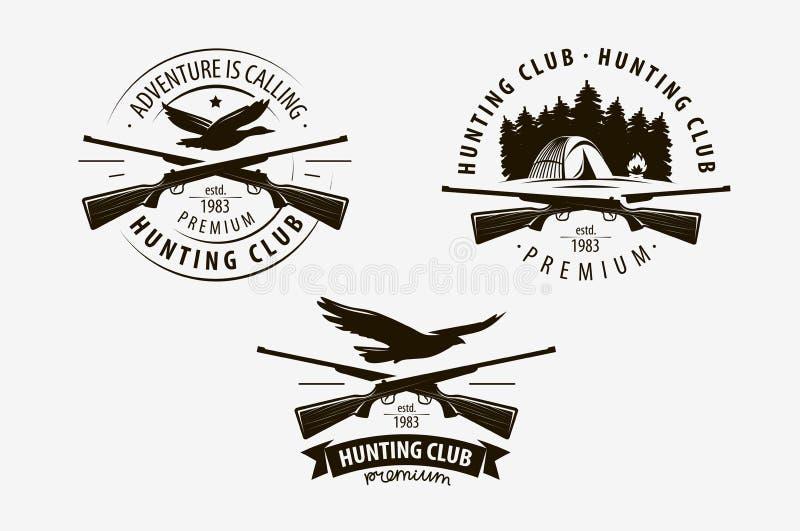 打猎俱乐部 Hunt徽标 矢量插图 向量例证