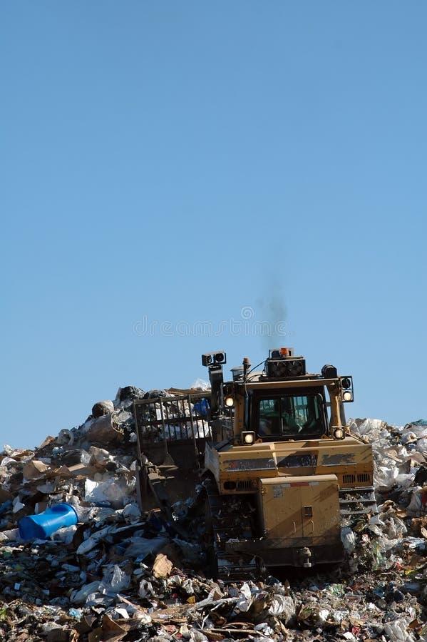 打瞌睡的人垃圾填埋 库存图片