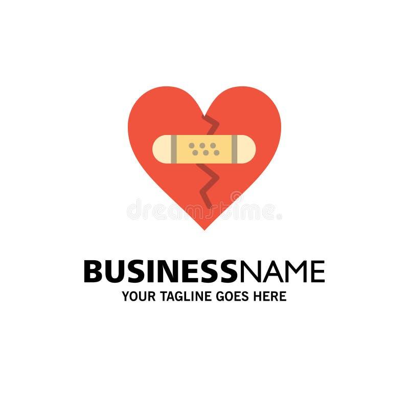 打破,情感,饶恕,心脏,爱企业商标模板 o 库存例证