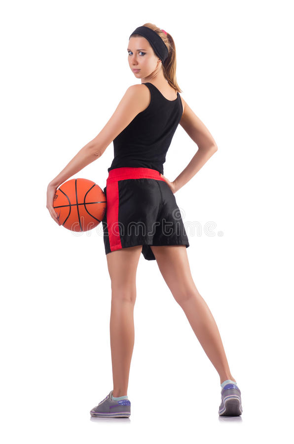 Download 打篮球的妇女隔绝在白色 库存照片. 图片 包括有 生活方式, 适应, 保持, 执行, 球员, 英俊, 设计 - 72366678