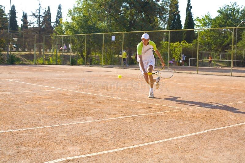 打网球的人 免版税库存照片