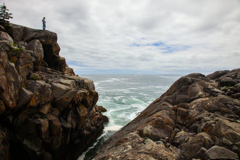 打雷谷,小岛澳大利亚Haut,缅因 免版税库存照片