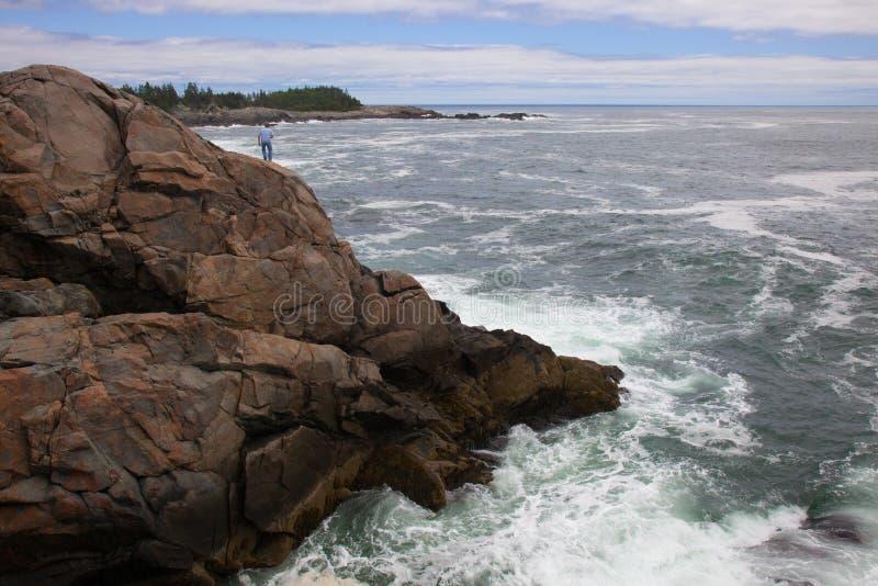 打雷谷,小岛澳大利亚Haut,缅因 图库摄影