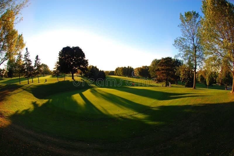 打高尔夫球的绿色 库存图片