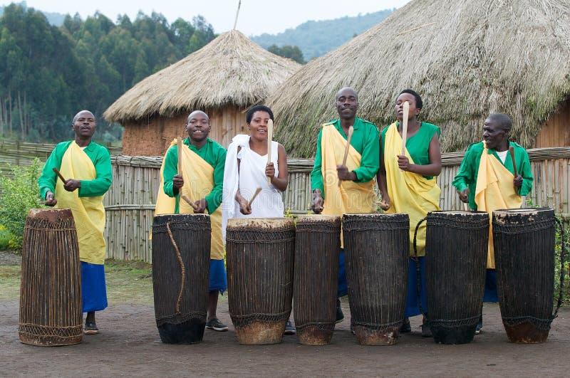 打鼓卢旺达 免版税库存照片