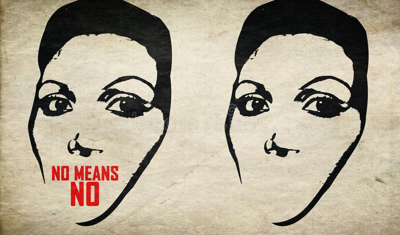 打破沈默中止暴力反对妇女 免版税库存照片