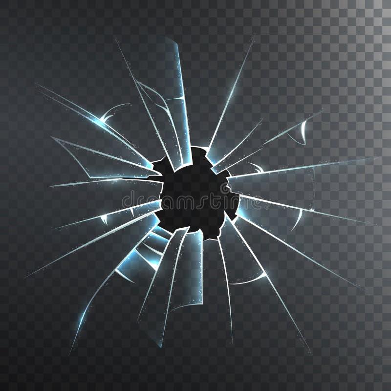 打破的毛玻璃现实象 库存例证