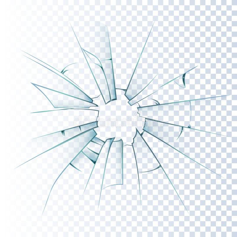 打破的毛玻璃现实象 向量例证