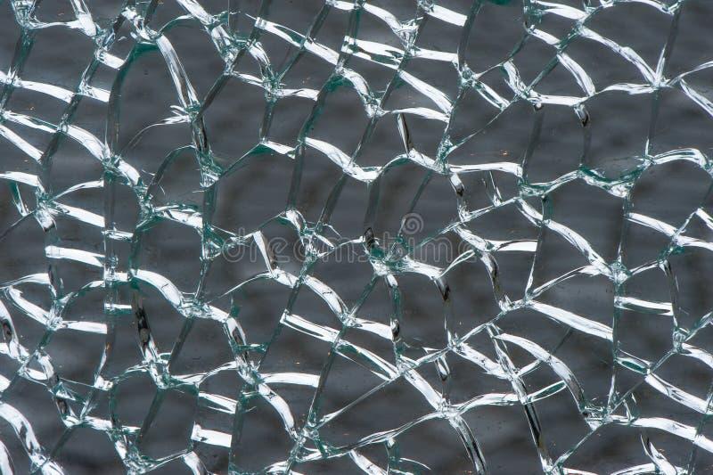 打破的被碾压的安全玻璃 免版税库存图片