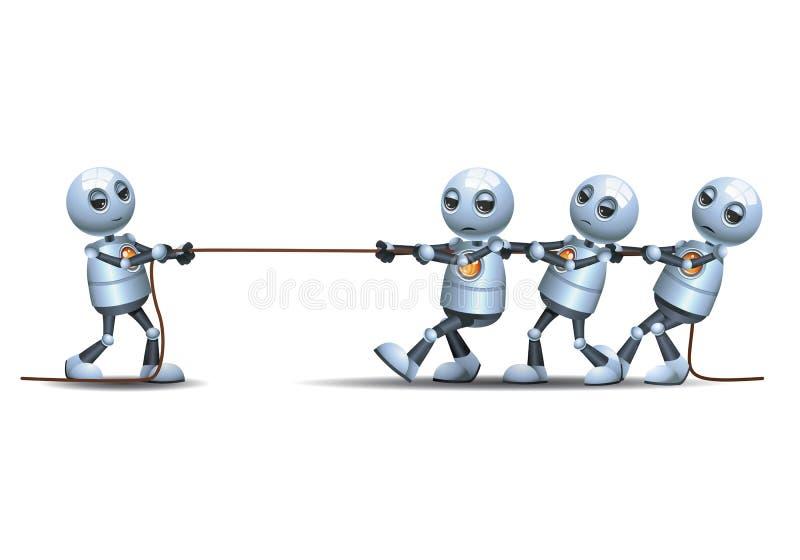 打thugging的绳索比赛的一点机器人 库存例证