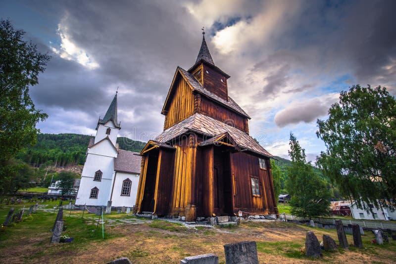 托尔波・斯塔夫教堂- 2018年7月30日:挪威托尔波壁教堂 免版税库存照片