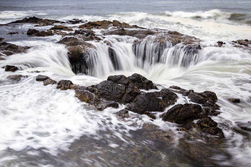 托尔的很好,俄勒冈海岸 免版税库存照片