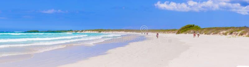 托尔蒂岛在圣克鲁斯岛的海湾海滩在加拉帕戈斯 图库摄影