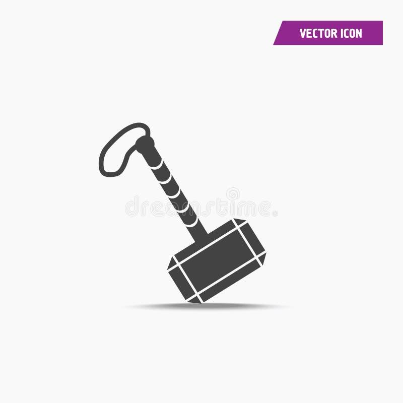 托尔象黑战争锤子在简单设计的 库存例证