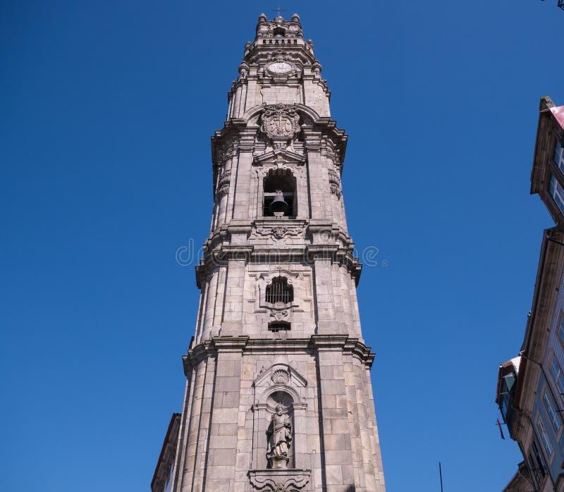 托尔Dos Clerigos/Clerigos塔在波尔图,葡萄牙 免版税图库摄影