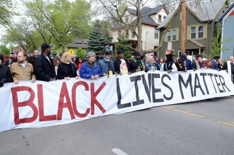 托尼的鲁宾逊抗议过分要求的正义 库存照片