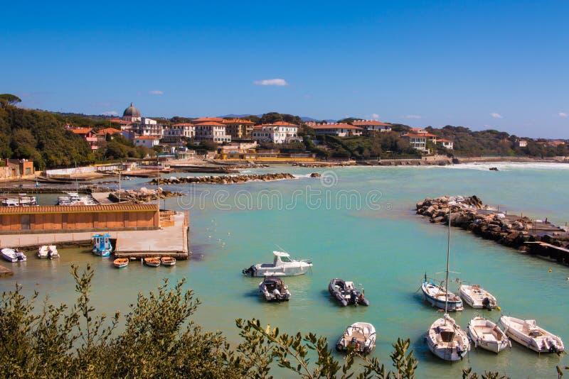 托斯卡纳,意大利的海边 免版税库存照片