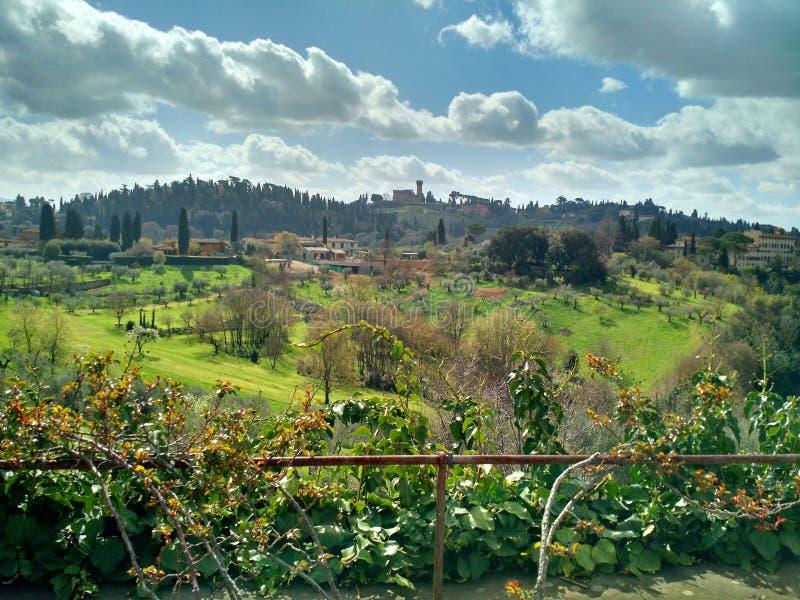 托斯坎风景,佛罗伦萨,意大利 图库摄影