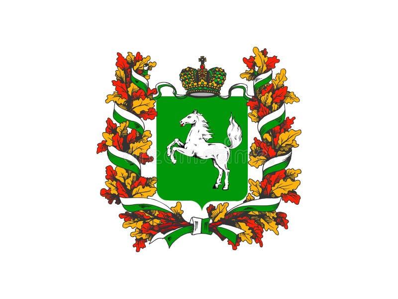 托木斯克州州旗 向量例证