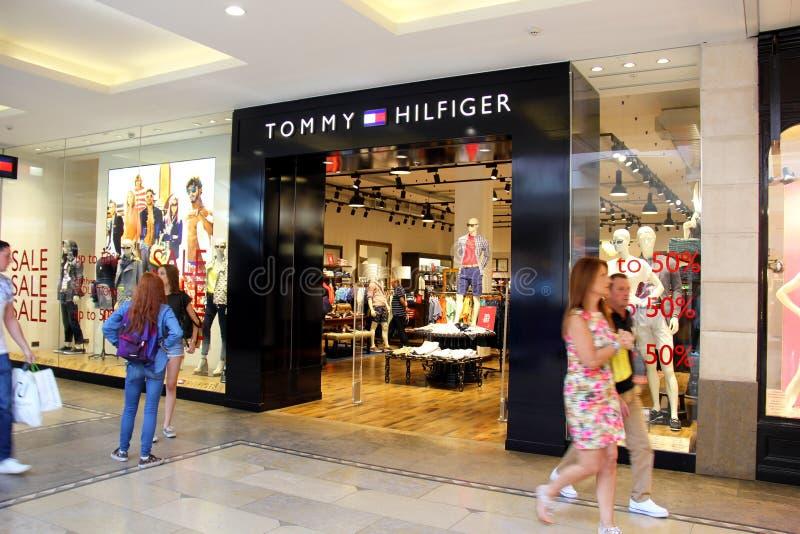 托米Hilfiger商店 库存照片