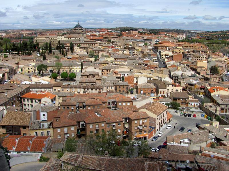 托莱多古城的全景 库存照片