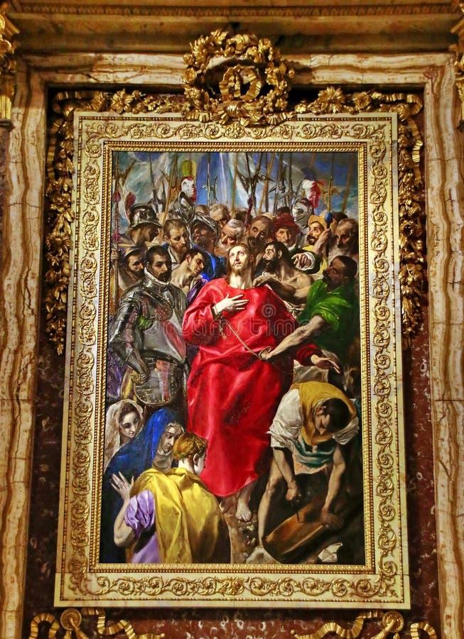 托莱多西班牙-使脱光基督 免版税图库摄影