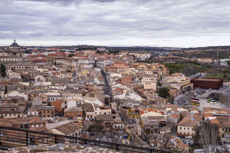 托莱多,皇家城市。从墙壁的看法 免版税图库摄影