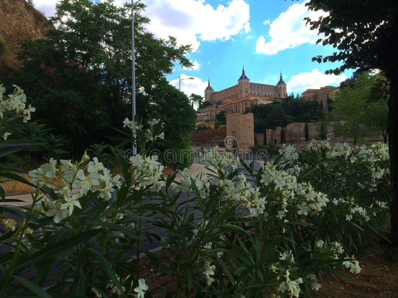 托莱多,西班牙-托莱多城堡镇  免版税图库摄影
