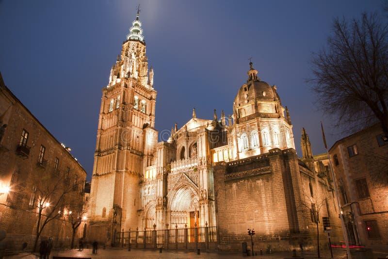托莱多-大教堂Primada圣塔玛丽亚de托莱多 库存照片