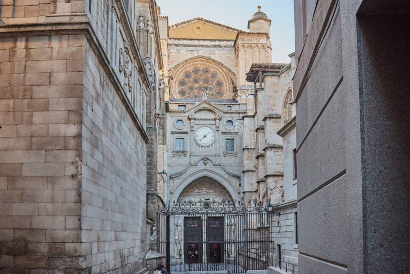 托莱多/Catedral Primada圣玛丽亚de托莱多圣玛丽大主教大教堂在托莱多,西班牙 图库摄影