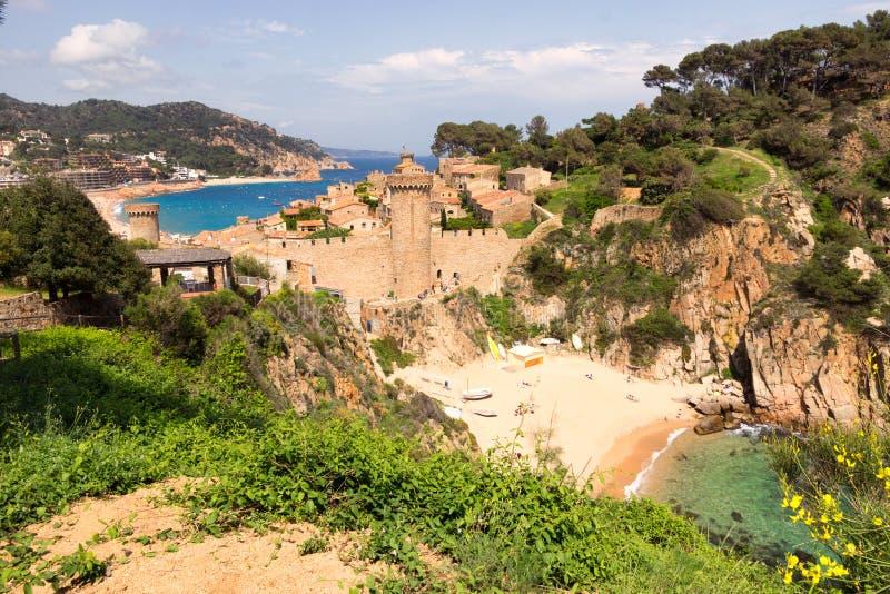 托萨德马尔肋前缘Brava海滩西班牙 免版税图库摄影