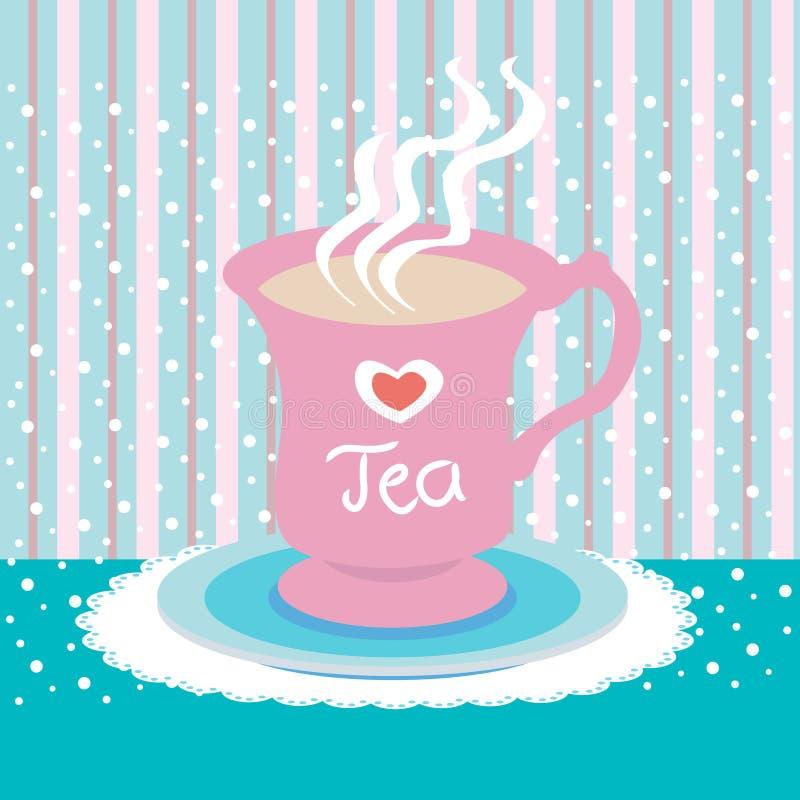 托起爱茶 向量例证