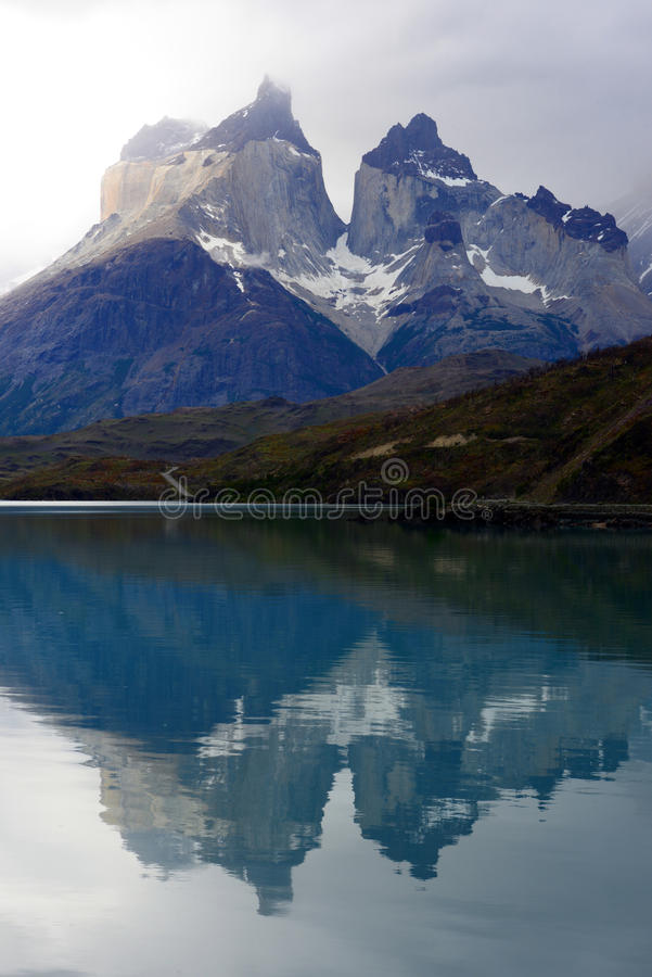 托里斯del潘恩国家公园,巴塔哥尼亚,智利 图库摄影