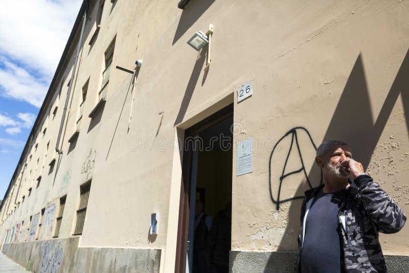 托里诺-意大利- COTTOLENGO上帝一点房子  库存图片