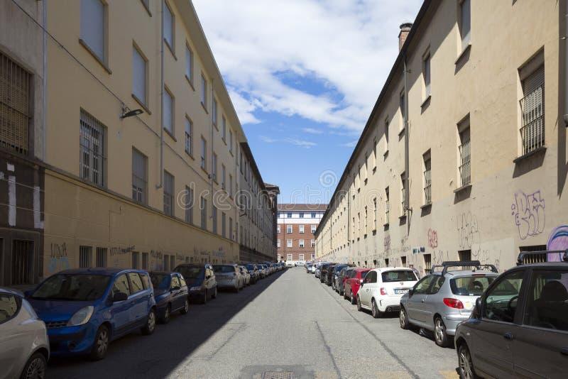 托里诺-意大利- COTTOLENGO上帝一点房子  免版税库存照片