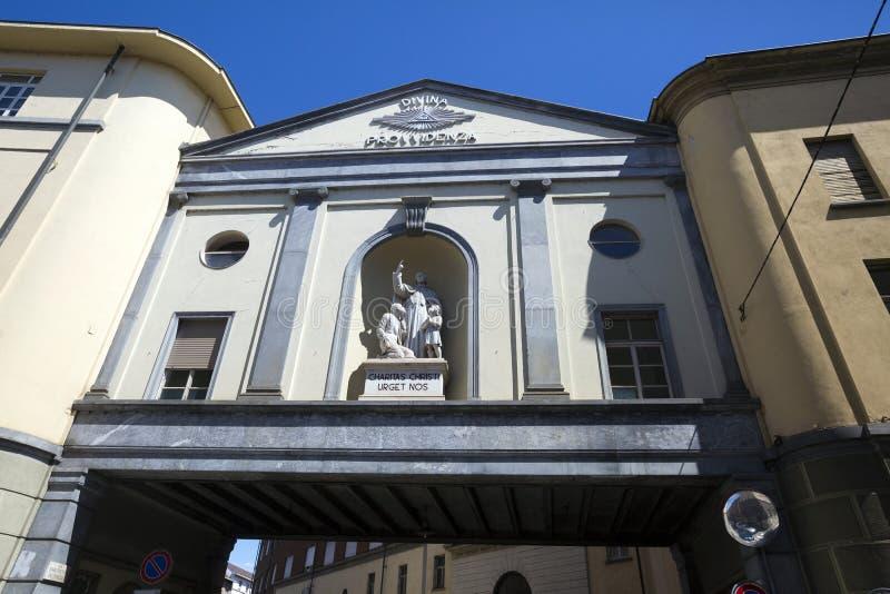 托里诺-意大利- COTTOLENGO上帝一点房子  免版税图库摄影