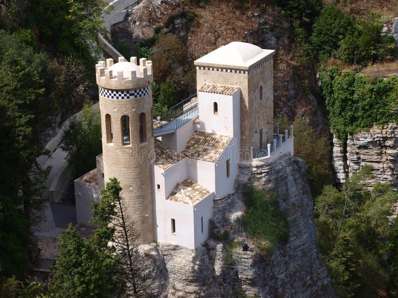 托雷塔Pepoli,埃里切,西西里岛,意大利 库存照片