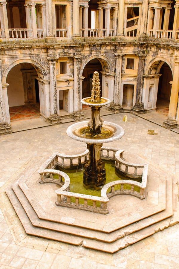 托马尔的基督会院在Tomar,葡萄牙 免版税库存照片