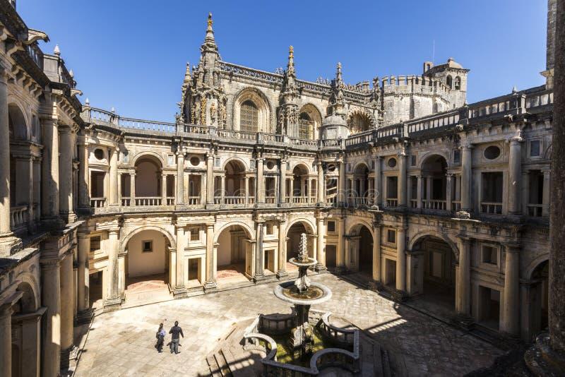 托马尔的基督会院Tomar,葡萄牙 免版税库存图片