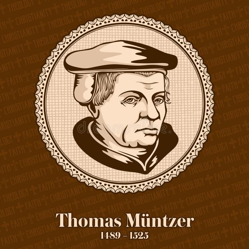 托马斯・闵采尔1489-1525是早改革的德国传教者和激进神学家 皇族释放例证