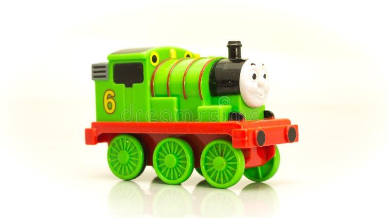 托马斯和他的朋友绿色火车亨利动画片  免版税库存照片